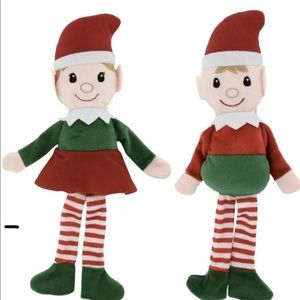 "Sets of Elves Shelf-Sitting Plush 14.5"" christmas"